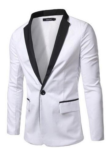 saco blazer hombre slim fit casual solapa color moda dos