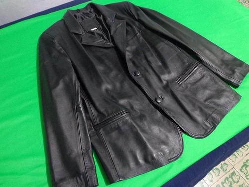 saco blazer para caballero de piel color negro envío gratis