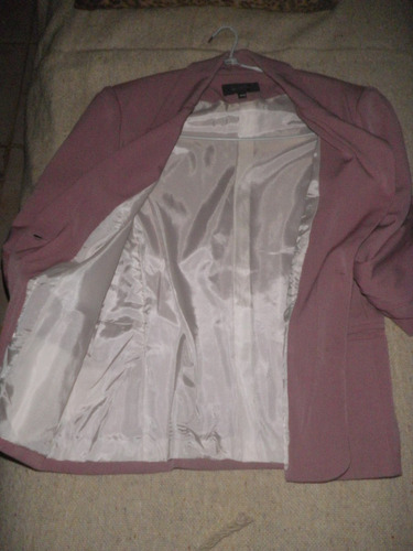 saco blazer sastre color rosa chicle   sin uso. no envio