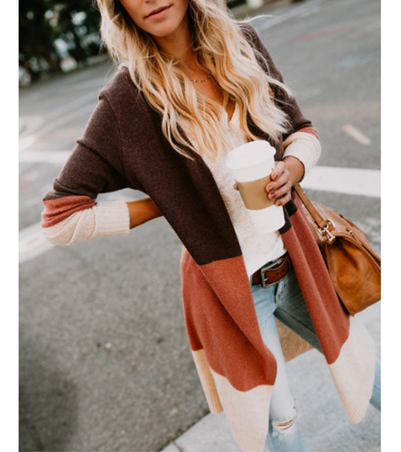 saco blazer suéter capricho cardigan dama largo casual