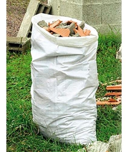 saco bolsa 50 kls nylon tejido reforzado escombro