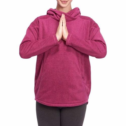 saco buso polar térmico para yoga suave / relajación magenta