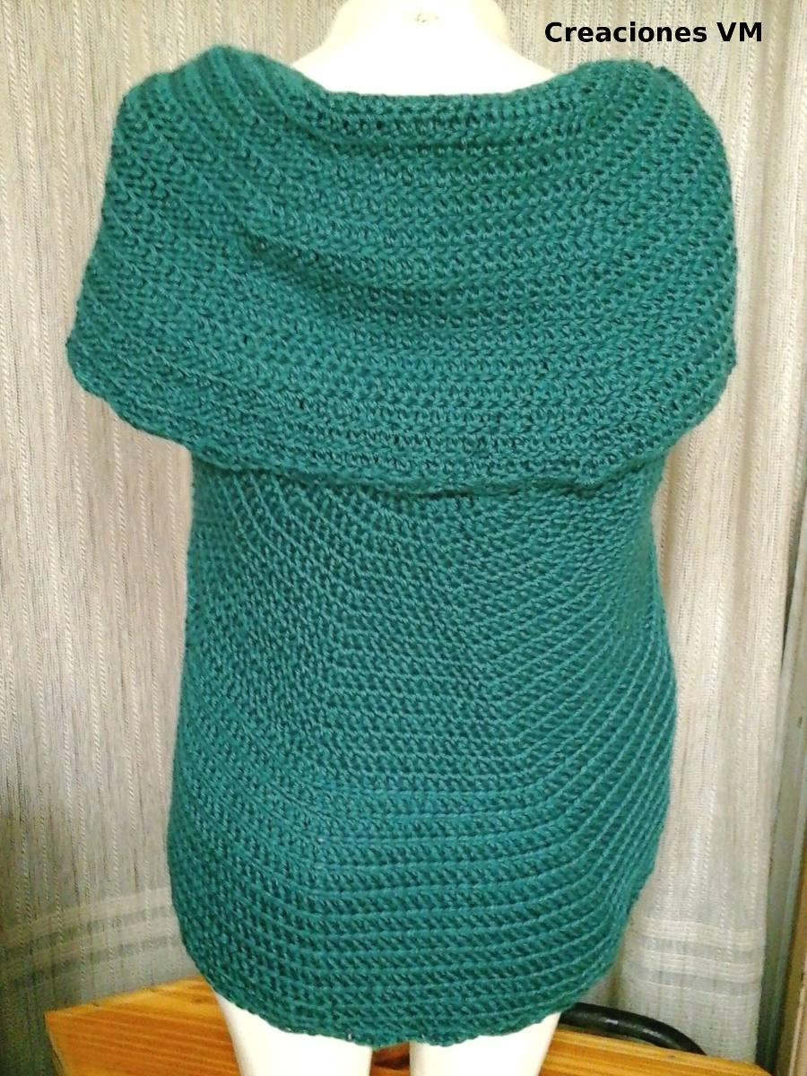 Saco Circular- Chaleco Artesanal Tejido A Crochet. Mujer. -   900 34c8406c25ef