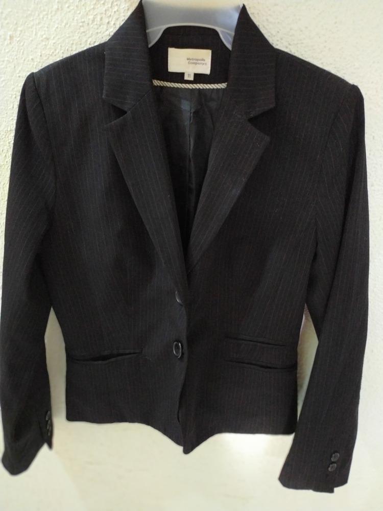 Saco Color Negro Blazer Para Dama