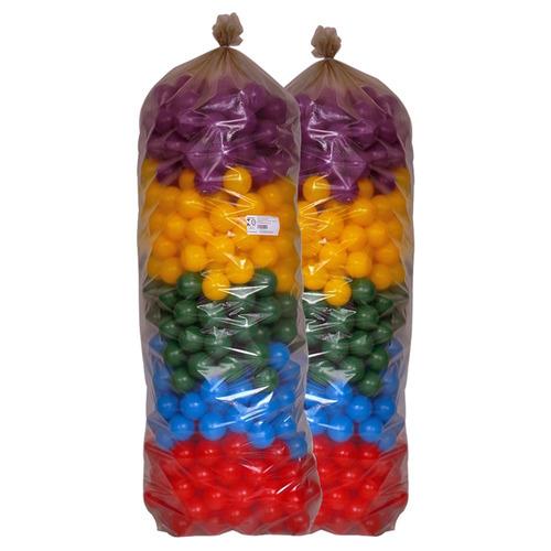 saco com 500 bolinhas coloridas p/piscina selo-inmetro
