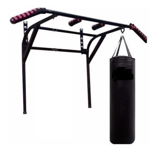saco d box lleno 1 mts+barra dominada+cadena