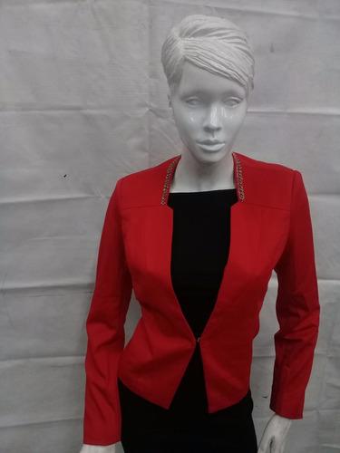 saco dama color rojo