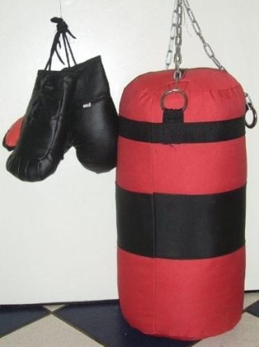 saco de box niño mas gauntes niño con cadenas nuevo embalado