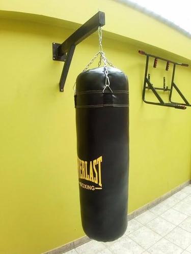 saco de box vacio de 1,80cm+soporte+cadena super resistente