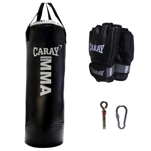 saco de boxeo mma profesional + guantes mma pro caray
