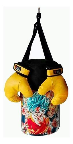 saco de boxeo para niño + guantes para niño
