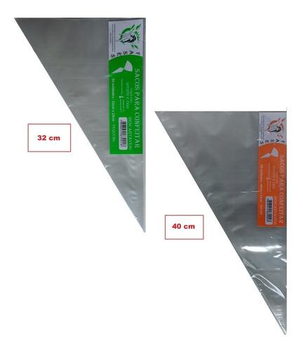 saco de confeitar descartavel 01 p + 01 m com 50und por pct.