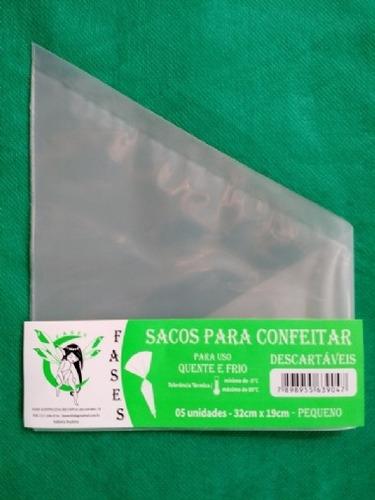 saco de confeitar/manga descartável 32cm- pequeno 20 unid.