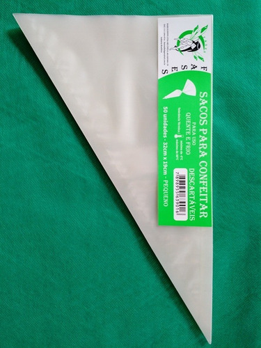 saco de confeitar/manga descartavel 32cm pequeno 200 unid