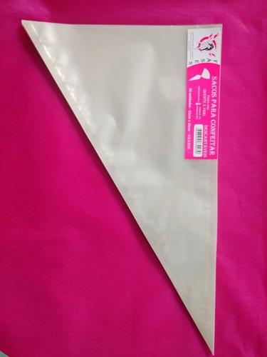 saco de confeitar/manga descartável 52cm- grande 200 unid.