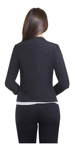 saco de dama negro con cierres manga plizada devendi