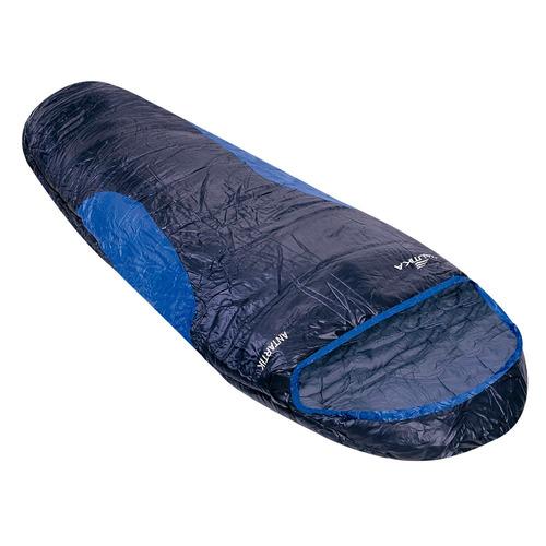 saco de dormir antartik ntk preto e azul