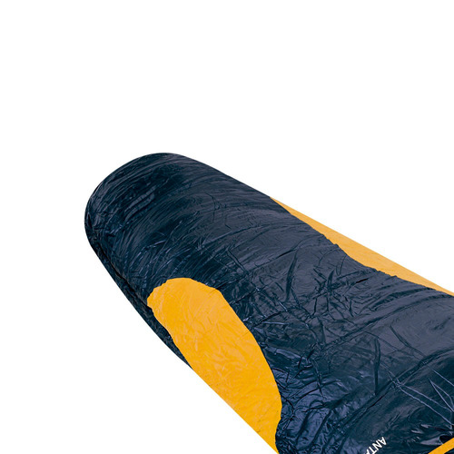 saco de dormir antartik ntk preto e laranja