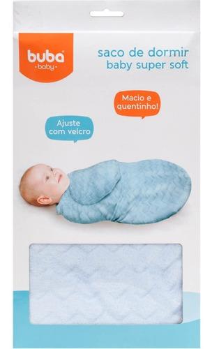 saco de dormir coberta bebe azul soft com ajuste fecho buba