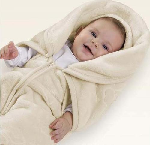 saco de dormir cobertor baby sac premium royale bege colibri