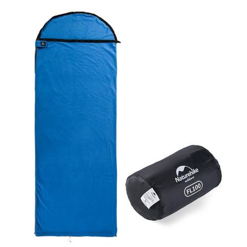 saco de dormir de fleece f100 azul - naturehike