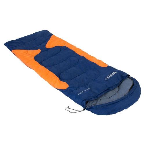 saco de dormir freedom ntk azul e laranja