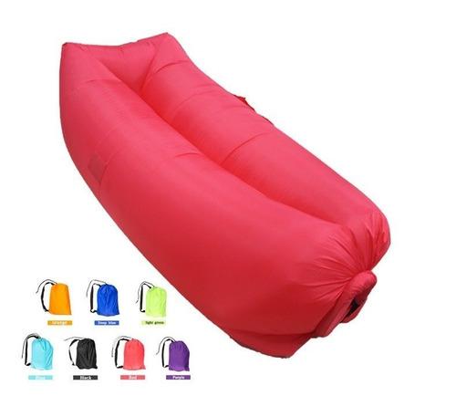 saco de dormir inflável - puff - sofá - acampamento