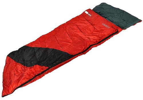saco de dormir nautika liberty vermelho e preto + isolante