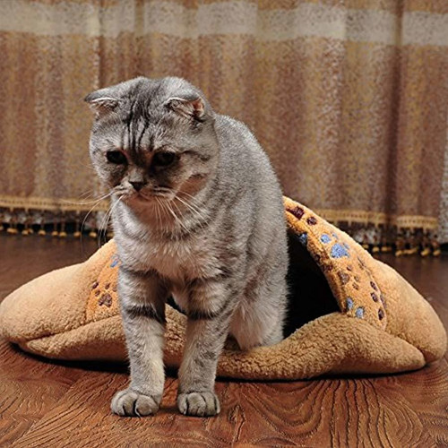 saco de dormir para gatos cachorro suave y suave cama p...