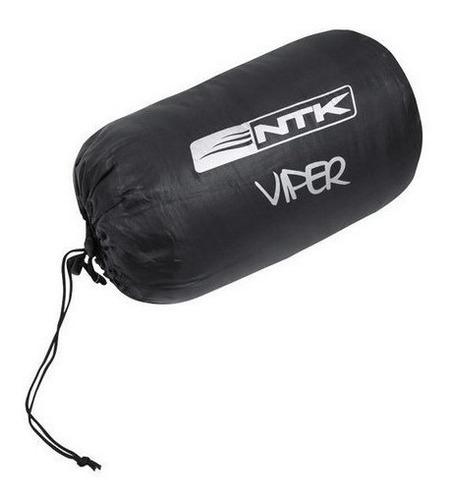 saco de dormir solteiro viper preto/laranja 5º a 12º nautika