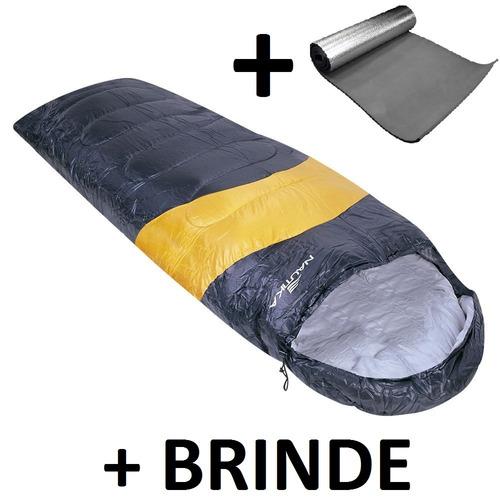 saco de dormir viper + isolante térmico nautika + brinde