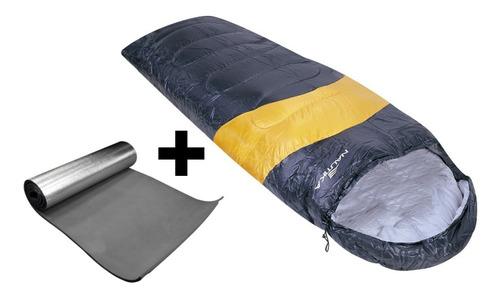 saco de dormir viper nautika laranja/preto +isolante termico