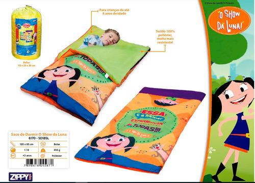 saco de dormir zippy criança infantil show da luna + bolsa