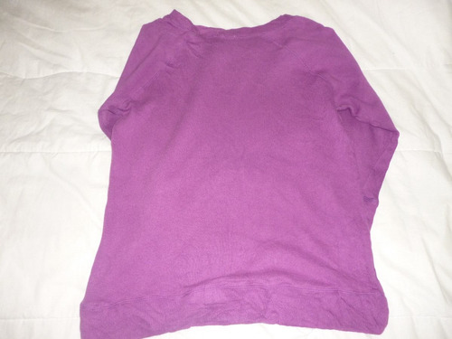 saco de lana j. crew manga 3/4  morado para dama talla l
