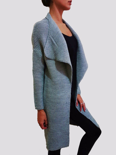 saco de lana largo abierto