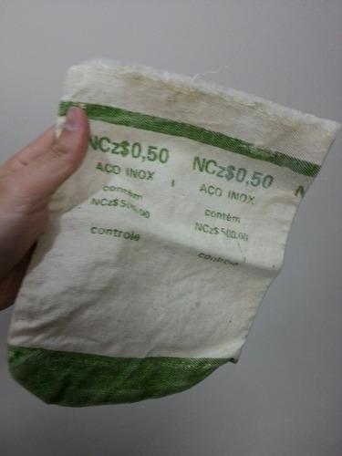 saco de moedas ncz$ 0,50
