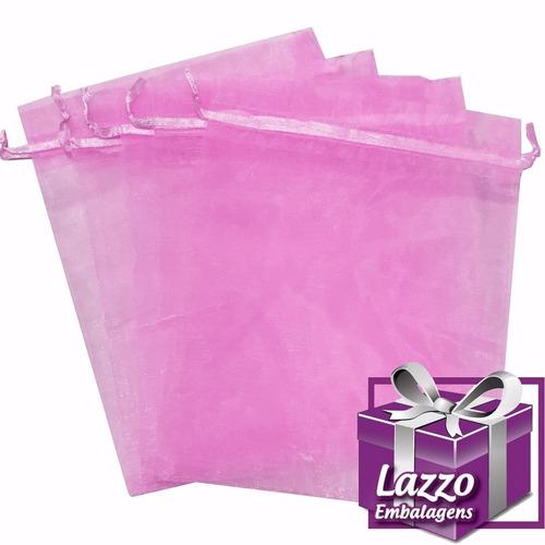 saco de organza 15x18 - rosa claro - 50 unids lindos!!!