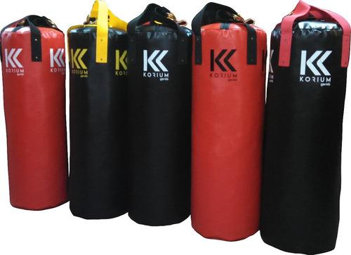 saco de pancada profissional korium 90x100 + brinde