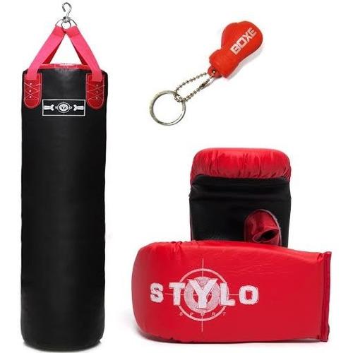 saco de pancada stylo power 70x90+luva+brinde