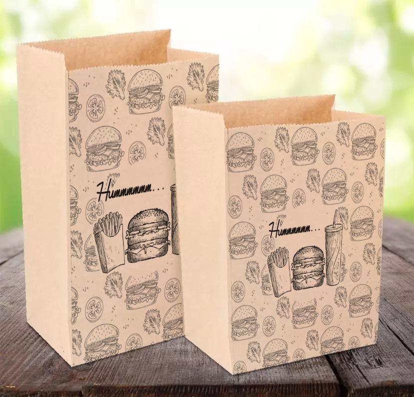 d78d6e6f1 saco de papel kraft para hamburguer e delivery tam m - 100un. Carregando  zoom.