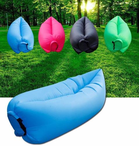 saco de sofá dormir inflável descanso camping lay-bag poof