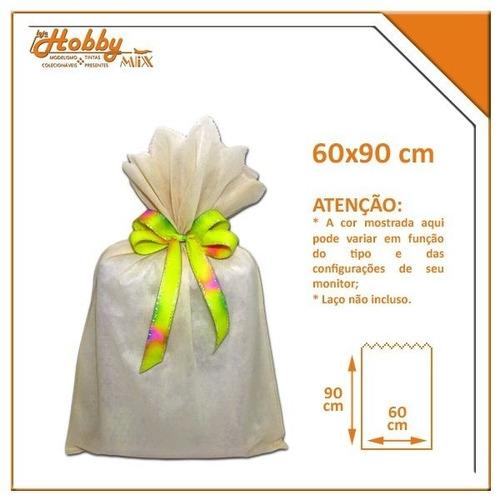 saco de tnt cru - 60 x 90 cm
