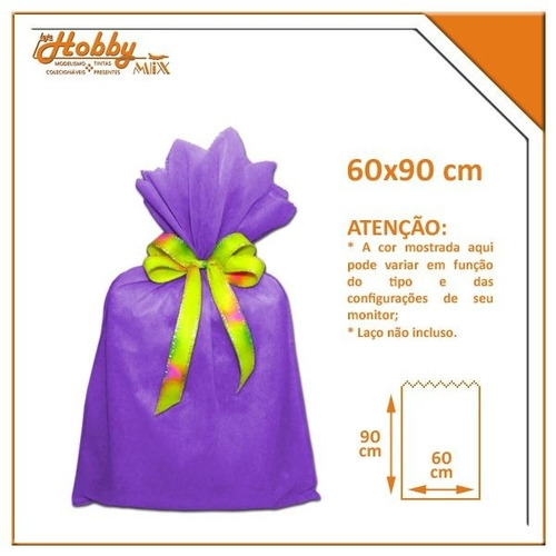 saco de tnt uva - 60 x 90 cm
