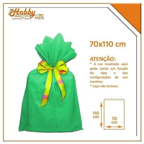 saco de tnt verde - 70 x 110 cm