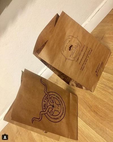 saco delivery em kraft personalizado c/1000 unds - 1 cor