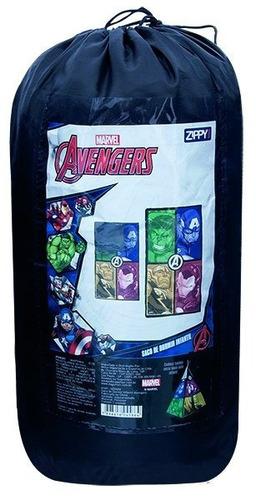 saco dormir infantil avengers hulk thor homem ferro infantil