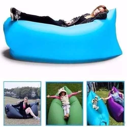 saco dormir sofá descanso inflável camping tipo lay-bag