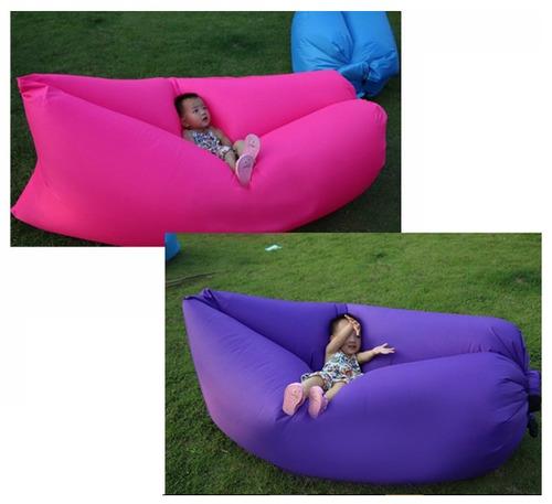 saco dormir sofá inflável camping praia lay bag air chair