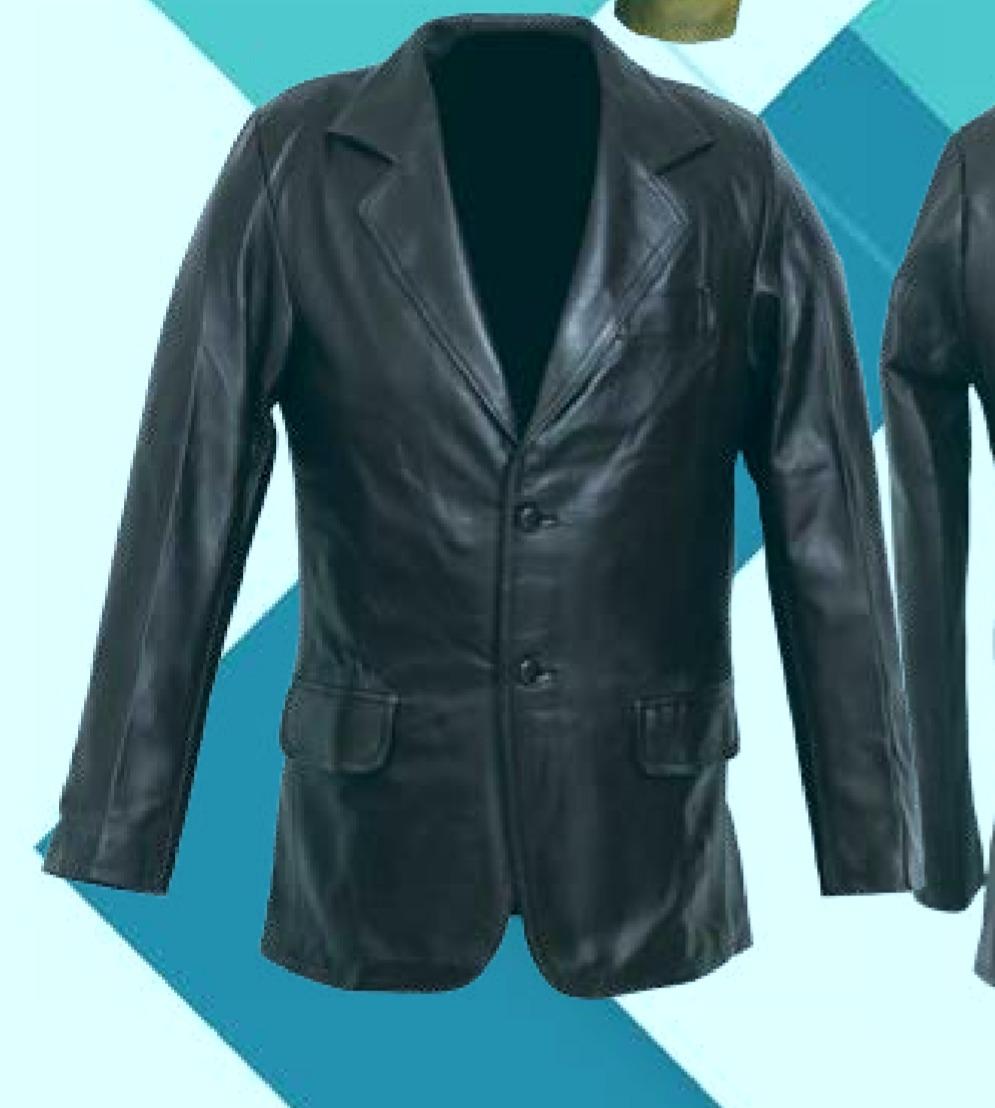 96b64dc13 Saco En Piel De Vestir Para Caballero Modelo Blazer