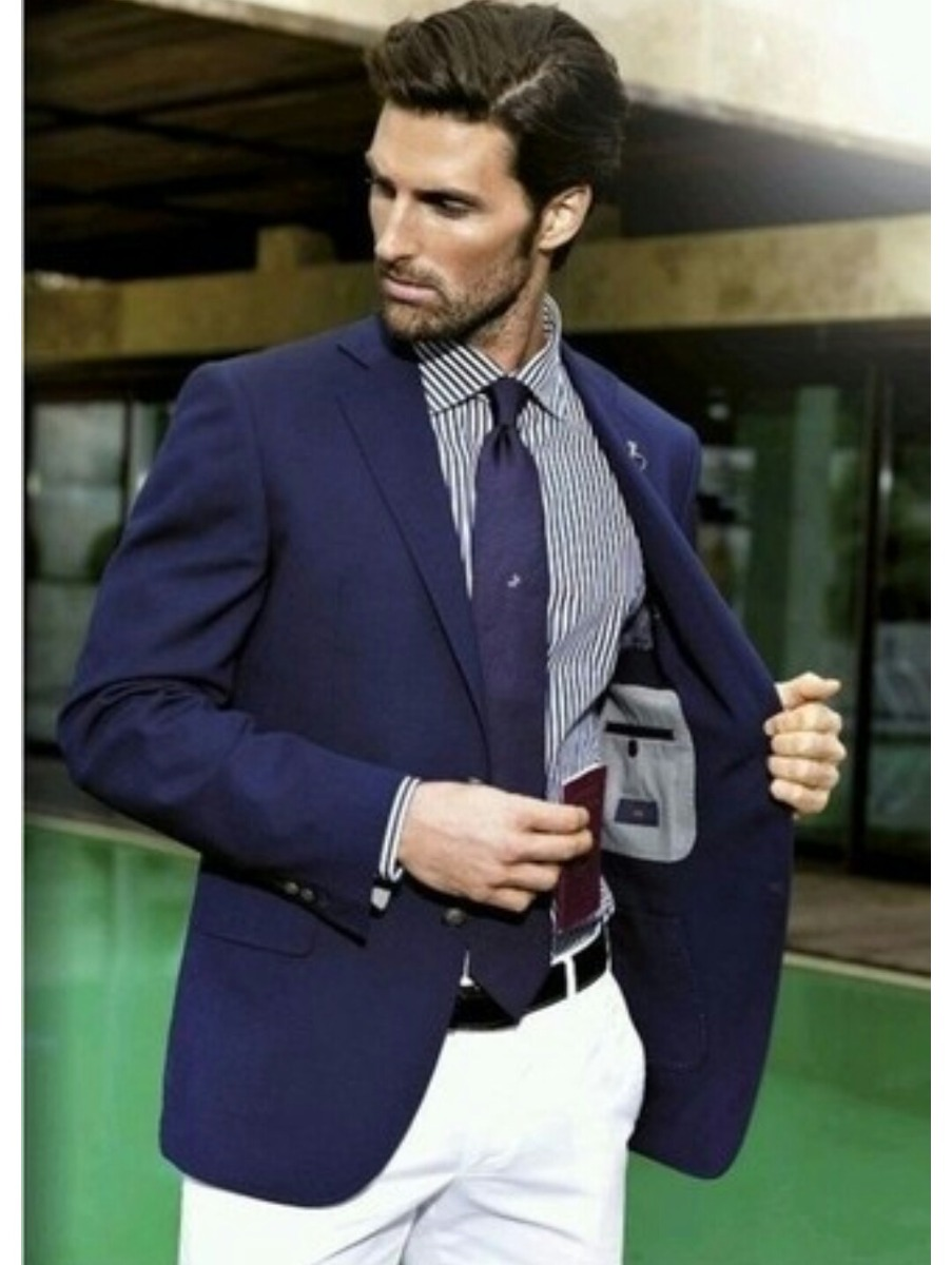Saco Entallado De Vestir Para Hombre